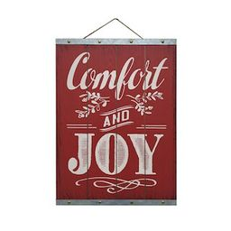 """19"""" Comfort & Joy Wall Sign by Ashland®   Michaels Stores"""