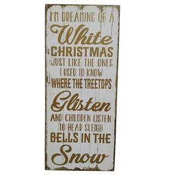 White Christmas Wall Sign by Ashland® | Michaels Stores