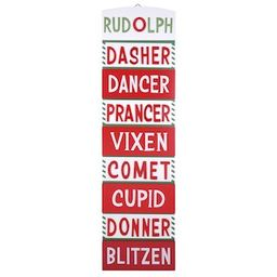 Reindeer Names Wall Sign by Ashland® | Michaels Stores