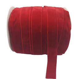 """10 Yards Velvet Ribbon Spool Available in Many Colors (Red, 1"""") 