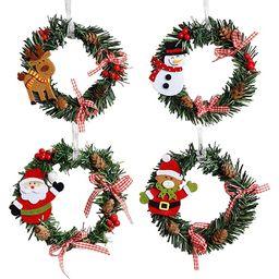 Jashem Mini Christmas Wreaths Artificial Small Pine Cones Wreath for Door Window X-mas Holiday Ho... | Amazon (US)