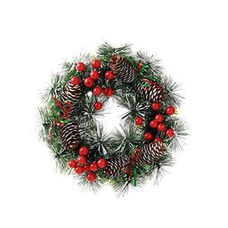 Kesywale Christmas Wreath, 10 Inch Artificial Decorative Wreath Xmas Garland Holiday Front Door H... | Amazon (US)