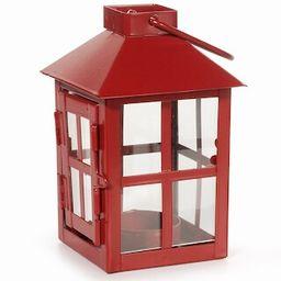 Windowpane Design Square Lantern: 3 x 3 x 5.5 inch Red Votive Lantern | Michaels Stores