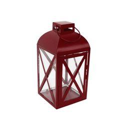 Mainstays Medium Red Metal Candle Holder Lantern | Walmart (US)
