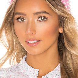 X REVOLVE Woven Bead Headband in Candy Pink | Revolve Clothing (Global)
