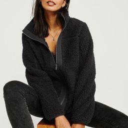 Full-Zip Sherpa Fleece Jacket | Abercrombie & Fitch US & UK