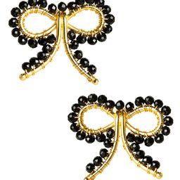 Little Bow Earrings - Czech Black Pre Order | Lisi Lerch Inc