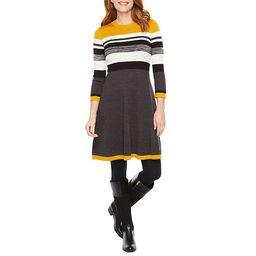 Jessica Howard 3/4 Sleeve Sweater Dress | JCPenney