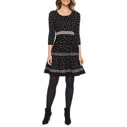 Liz Claiborne 3/4 Sleeve Stripe Dot Sweater Dress | JCPenney