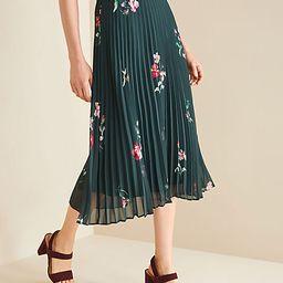 Floral Micro Pleat Skirt | Ann Taylor | Ann Taylor (US)