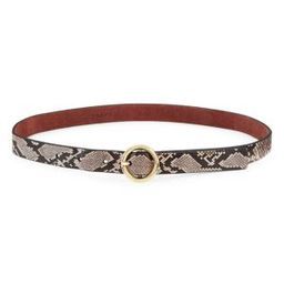 Python Embossed O-Ring Belt | Saks Fifth Avenue