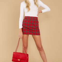 More The Merrier Red Plaid Skirt | Red Dress