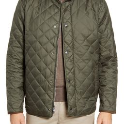 Suffolk Quilted Water-Resistant Car Coat | Nordstrom