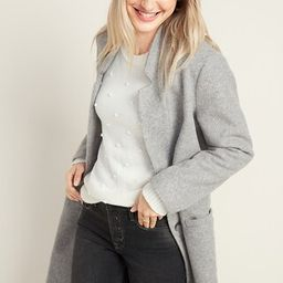 Relaxed Soft-Brushed Long-Line Coat for Women   Old Navy (US)