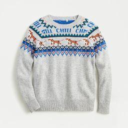 Boys' crewneck sweater in tiger Fair Isle | J.Crew US