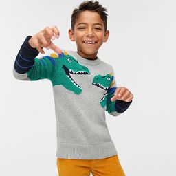Kids' cotton sweater with dinosaurs | J.Crew US