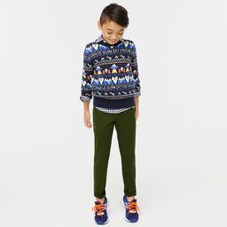 """Boys' crewneck sweater in """"out of this world"""" Fair Isle 