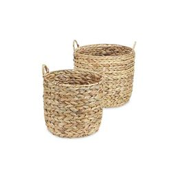 New!Water Hyacinth Round Baskets, Set of 2 | Kirkland's Home