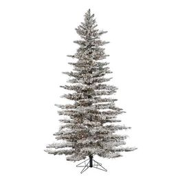 Pre-Lit LED Flocked Wyoming Pine Artificial Christmas Tree | Pottery Barn (US)