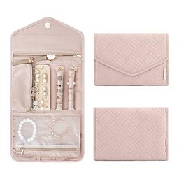 bagsmart Travel Jewelry Organizer Roll Foldable Jewelry Case for Journey-Rings, Necklaces, Bracel...   Amazon (US)