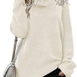 Womens Chunky Turtleneck Sweater Long Sleeve Knit Oversized Pullover Jumper   Amazon (US)