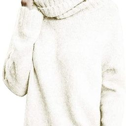 Womens Sweaters Casual Turtleneck Long Sleeve Soft Knitted Sweater Pullover   Amazon (US)