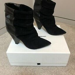 Isabel Marant Black Suede And Leather Andrew Boots 38   eBay US