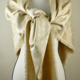 NEW LV DUNE Monogram Silk/Wool Scarf/Shawl 100% Authentic M71360 Louis Vuitton   eBay US