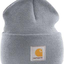 Acrylic Watch Cap - Grey branded beanie ski hat | Amazon (US)