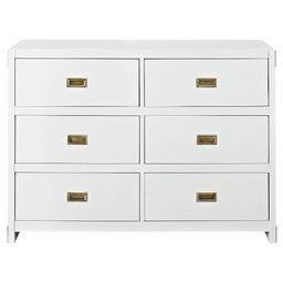 Baby Relax Georgia Campaign Dresser - White | Target