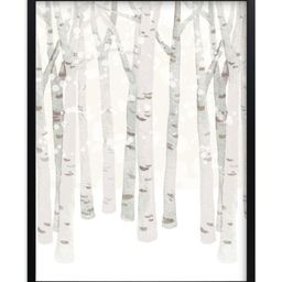 """""""Birch Woods in Winter"""" - Graphic Limited Edition Art Print by Four Wet Feet Studio. 