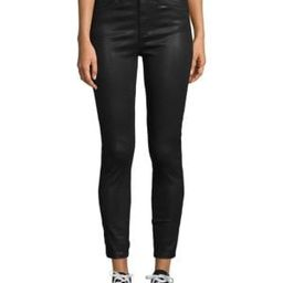 Coated High-Rise Ankle Skinny Jeans   Saks Fifth Avenue OFF 5TH