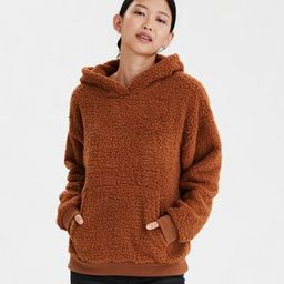 AE Fuzzy Sherpa Pullover Hoodie | American Eagle Outfitters (US & CA)