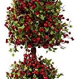 K&K Home Artificial Topiary Tree 37 Inch Berry and Leaf Topiary in Pot   Amazon (US)