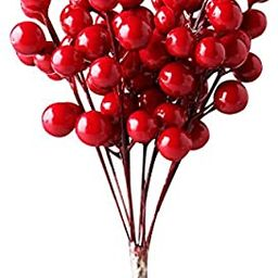 IFOYO Red Berries, 10 Artificial Red Berry Stems for Christmas Tree Decorations, Crafts, Holiday ... | Amazon (US)