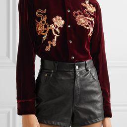 Embellished velvet shirt | Net-a-Porter (US)
