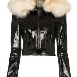 patent-finish zip-front jacket   Farfetch (US)