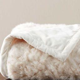 Faux Fur Wavy Alpaca Throw | Pottery Barn (US)