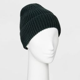 Women's Shaker Stitch Knit Cuff Beanie - A New Day™ One Size | Target