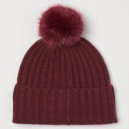 Knit Hat with Pompoms | H&M (US)
