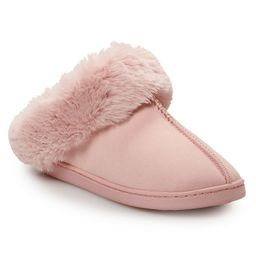 Women's LC Lauren Conrad Winter Home Faux Fur Clog Slippers | Kohl's