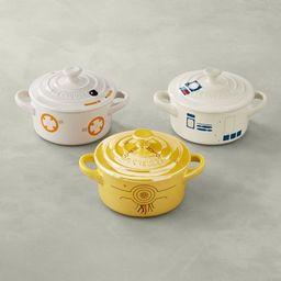 Le Creuset Stoneware Mini Round Cocotte, Star Wars Droids, Set of 3 | Williams-Sonoma