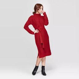 Women's Long Sleeve Mock Turtleneck Sweater Dress - A New Day™ | Target
