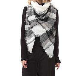 Zando Soft Warm Tartan Plaid Scarf Shawl Cape Blanket Scarves Fashion Wrap | Amazon (US)