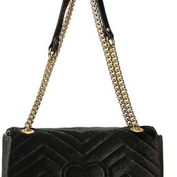 Trendy PU Leather Flap Quilted Purse Chain Shoulder Bag with Gold Metal Letters Crossbody Lattice... | Amazon (US)