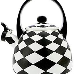 Gourmet Art Black Diamond Enamel-on-Steel Whistling Kettle | Amazon (US)