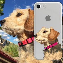 Custom Dog Illustrated Phone Case, gift for dog lover, dog gift ideas, Custom Pet Portrait, Fianc... | Etsy (US)