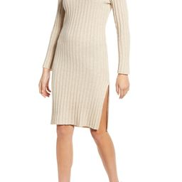 Ribbed Long Sleeve Sweater Dress | Nordstrom