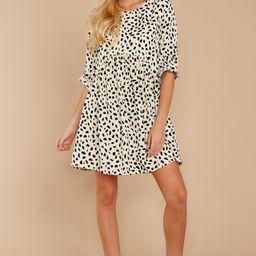 Major Mood Cream Cheetah Print Dress | Red Dress