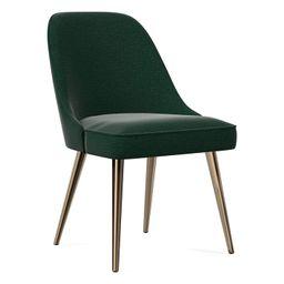 Mid-Century Upholstered Dining Chair - Metal Legs | West Elm (US)